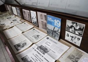 Exposição que complementou lembrança dos 50 anos do CCUC, incluindo acervo dos jornais produzidos pelo Cine-Clube