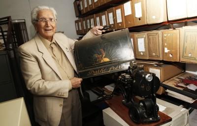 Marino Ziggiatti: criador e grande incentivador do Departamento de Cinema do CCLA (Foto Adriano Rosa)