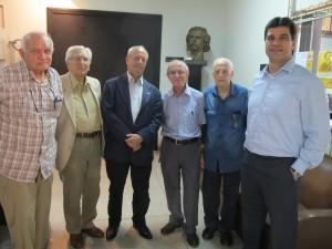 Dirigentes do CCLA e da Sanasa antes da palestra