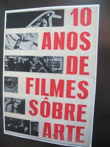 Cartaz do ciclo que marcou os dez anos de cinema de arte, promovido pelo CCLA em 1965 (Foto José Pedro Martins)