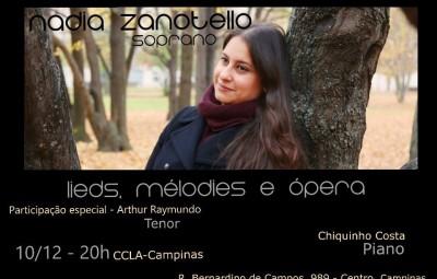 Material de divulgação do último concerto de 2015 no CCLA