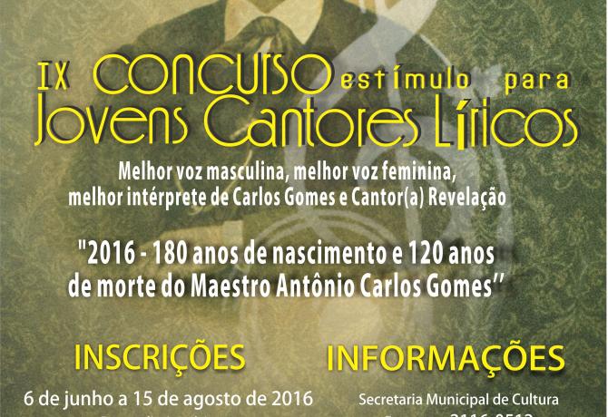 Cartaz IX Concurso Lírico 2016