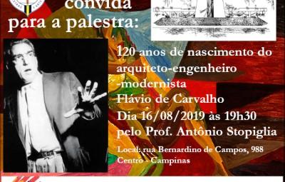 PALESTRA FLÁVIO DE CARVALHO